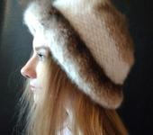 Головные уборы - шапочка с отворотом из собачьей шерсти