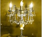 Светильники, люстры - Классическая бронзовая настольная лампа с ониксом AVRORA art. 3-02