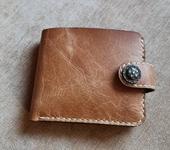 Кошельки, портмоне - Мужской кошелёк из натуральной кожи