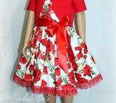 Одежда для девочек - Платье Красная Рoза