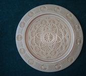 Элементы интерьера - Резная тарелка на стену из дерева