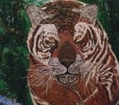 Картины со стразами - Бросок Тигра