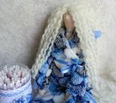 Куклы Тильды - Тильда банная фея, держатель  ватных палочек, пижамный ангел