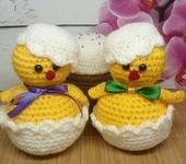 Вязаные куклы - Пасхальные цыплята