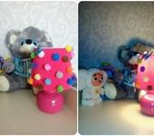 Светильники, люстры - Светильник с помпонами и бабочками
