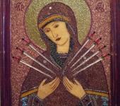 """Картины со стразами - Икона Божией Матери """"Умягчение злых сердец""""."""