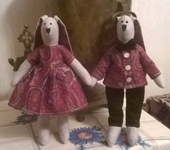Куклы Тильды - Кролики в стиле Тильда