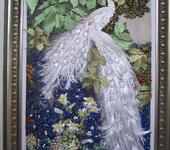 "Вышитые картины - картина ""Белые павлины"""