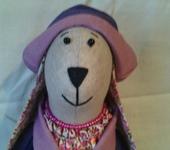 Куклы Тильды - Интерьерная текстильная игрушка Крольчиха-модница с сумочкой