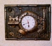 Часы - Интерьерные часы стимпанк Кот