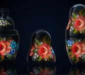 Декоративная посуда - Матрёшка-штоф фарфоровая