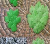 Фурнитура для бижутерии - Листики из силикона