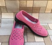 Обувь ручной работы - Вязаная обувь. Туфли.