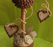 Оригинальные подарки - Топиарий кофейный Древо любви