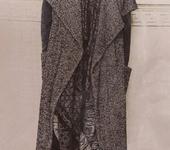 Жилеты - Стильный длинный шерстяной жилет (oversize)
