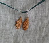 Серьги - Серьги деревянные
