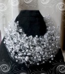 Купить или заказать Свадебное воздушное колье в интернет-магазине на Ярмарке Мастеров.  Выполнено из бисера и бусин В...