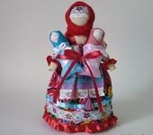 Народные куклы - Мамушка с детьми, оберег для матери
