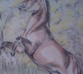 Живопись - лошадь