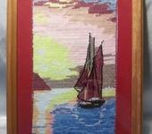 Вышитые картины - Картина вышитая Парусник