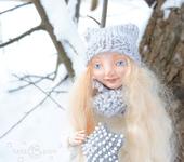 """Сказочные персонажи - Интерьерная, авторская кукла """"Снежинка"""" в единственном экземпляре"""