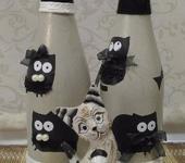 Декоративные бутылки - Декоративная бутылка «КотоВасия»