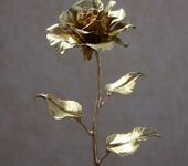 Оригинальные подарки - Кованая золотая роза №2