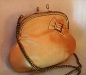 Сумки, рюкзаки - Сумка кожаная Ретро (цвет карамельный)