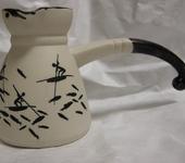 Декоративная посуда - Турка  Рисунок на камне керамическая и кофейная пара
