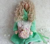Куклы Тильды - Тильда банный ангел - держатель ватных палочек