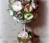 Элементы интерьера - Топиарий из цветов ручной работы
