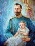 Коллажная живопись - серия портретов