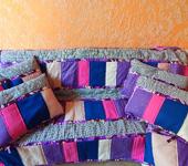 """Подушки, одеяла, покрывала - Лоскутный комплект """"Лето в деревне"""""""