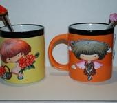 Кружки, чашки - кружка с лепным декором (чайный комплект)
