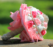 Цветы - Свадебный брошь-букет Роза