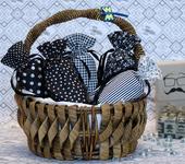 Подарочная упаковка - Черно-белые мешочки
