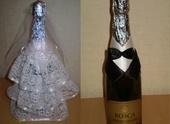 Одежда и аксессуары - Украшение на бутылку шампанского.