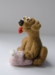 Зверята - собачка с тапочком