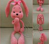 Вязаные куклы - зайка