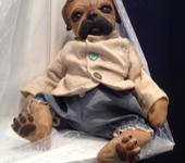 Куклы реборн - собачка мопс Ник