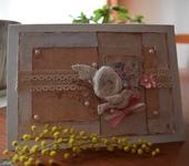 """Свадебные открытки - Открытка """"Птичка"""" Шебби-шик"""