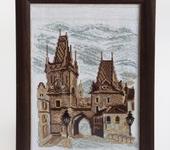 """Вышитые картины - Картина вышитая крестиком  """"Пражские башни""""."""