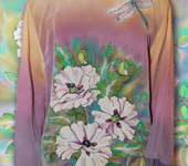 """Блузки - блузка ручной росписи """"Белые маки"""""""