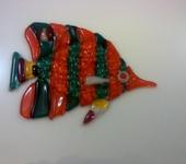 Элементы интерьера - Рыбка витражная