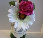 Элементы интерьера - Украшение на бутылку шампанского