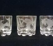 """Бокалы, стаканы, рюмки - стопки с гравировкой """"утки"""""""