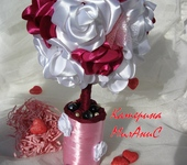 Оригинальные подарки - Топиарий из роз