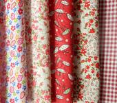 Изготовление кукол, игрушек - Набор ткани из 7 отрезов