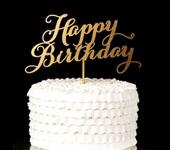 """Другие аксессуары - Топпер """"Happy Birthday"""""""