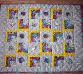 """Подушки, одеяла, покрывала - Детское лоскутное одеяло """"Цветочное"""""""